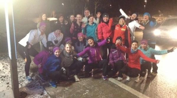21 women on snowy night in Austria'13