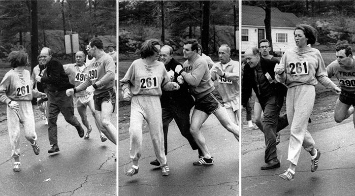 The 1967 Boston Marathon incident captured in 3 images